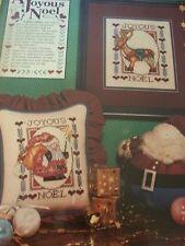 A Joyous Noel Folk Christmas OOP Magazine Cross Stitch Pattern (D)