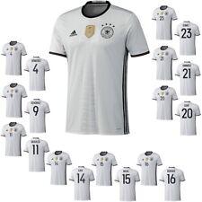 adidas DFB Home 4 Sterne Deutschland beschriftetes Heimtrikot weiß EM 2016 Flock