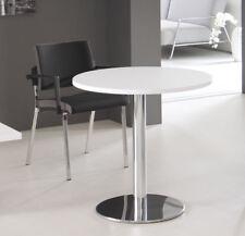 Besprechnungstisch rund 80 cm Säulenfuß verchromt Konferenztisch Tisch Bürotisch