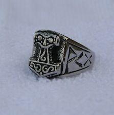 Hammer of Thor Motorcycle Biker Ring Stainless Steel Sz 8,9,10,11,12,13,14,15,16