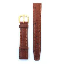 Timex Ostrich Grain Brown Leather Watch Strap