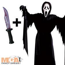 Scream Ghost Face Kids Fancy Dress Halloween Horror Boys Teens Costume + Knife