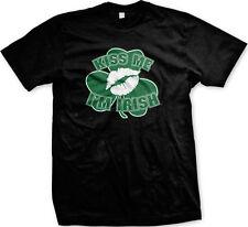 Kiss Me Im Irish Ireland Clover Shamrock Lucky Charm St Patricks Day Mens Tshirt