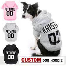 XS-5XL Custom Dog Hoodie Sweatshirt Pet Coat Clothes &Name Boxer Grey Black Pink