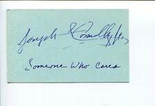 Joseph Connolly Someone Who Cares Composer Signed Autograph