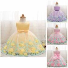 Nouveau Fête D'Anniversaire Fleur Fée Princesse Bébé Filles Robe de Mariage Enfants Vêtements