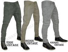 Pantalone Jeans Uomo Y.Two Denim cavallo basso vintage art y1123 dalla 42 a 52