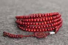 Wheel Mala Amulet Bracelet Necklace Tibet Buddhism 216 wood Prayer Bead