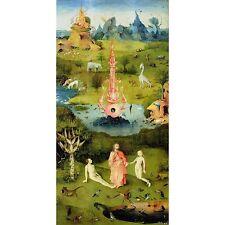 Quadro su Pannello in Legno MDF Hieronymus Bosch The Garden of Earthly Delights