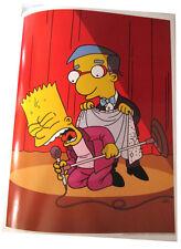 "Simpsons Tv Show Mini Poster 2007 14""X10 1/2"" Bart & Milhouse James Brown Style"