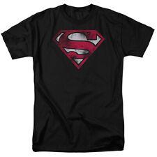Superman War Torn Shield Symbol Sheldon Cooper Big Bang Theory Adult Shirt S-3XL