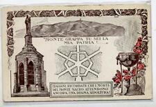 Monte Grappa tu sei la mia Patria Ossario WWI Art Nouveau PC Circa 1915 Italy