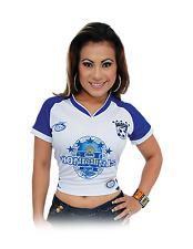 Blusa Honduras Blanco Azul 100% Polyester By Arza Soccer Sizes S to XXL