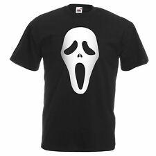 Mens Black Scream Ghost Face T-Shirt Scary Movie Halloween Horror TShirt