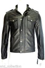 Glenn Mens Gents Black Designer Real Sheep Nappa Soft Lambskin Leather Jacket
