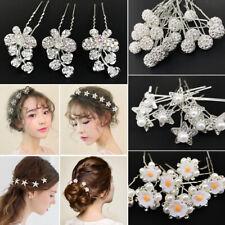 20pcs Women Pearl Flower Crystal Rhinestone Hair Pins Wedding Bridal Accessories