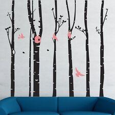 Jungle Tree Branch Birds Wall Art Decal Removable Vinyl Sticker Mural Home Decor