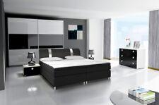 Schlafzimmer Komplett Set Kleiderschrank Bett Kommode Nachttisch Hochglanz 07