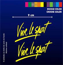 2 X PEGATINAS - STICKERS - VINILO - Vinyl - Vive le Sport - Aufkleber - 9 cm
