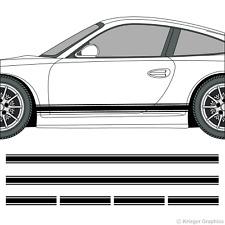 Porsche 718 or 911 Rocker Panel Racing Stripes 3M Vinyl Decal Kit