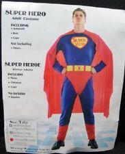 MENS Costume Fancy Dress Up HT Super Hero Superman Super Man sz Standard