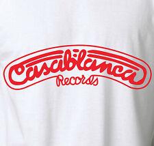 CASABLANCA RECORDS T-Shirt Vintage Retro Kiss Label Rock S-6XL 100% Cotton Tee