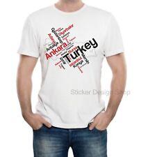 Türkei Städte T-Shirt Druck Baumwolle Fruit of The Loom Türkiye Istanbul Ankara