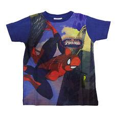 SPIDERMAN camiseta azul impreso en 100%algodón varias tallas de niño
