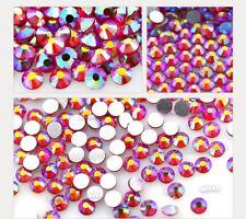 Glass Crystal Siam AB Non Hotfix Flatback Rhinestones SS16, SS20 Nial Art