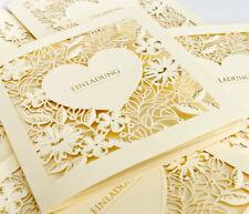 Hochzeitskarte Hochzeitseinladungskarte HE085 +Umschlag Einladung Hochzeit