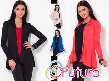 Women's Cardigan Long Sleeve Coat Bolero Jacket Blazer Top One Size 8-12 8150