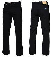 nero da uomo regular pesante lavoro denim jeans tutte le taglie