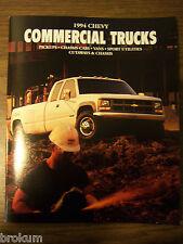 1994 CHEVROLET CHEVY COMMERCIAL TRUCKS  47 PAGE DEALER SALES BROCHURE (BOX 697)