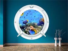 Meer Aquarium Fisch Bullauge Unter Wasser U-boot Wandkunst Sticker Abziehbild