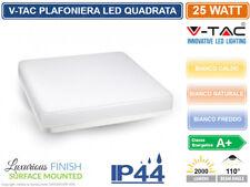 V-TAC VT-8066sq PLAFONIERA LED 25W FORMA QUADRATA COLORE BIANCO IP44