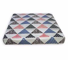 ll410t White Black Light Grey Blue Red Geometric Traingle 3D Box Cushion Cover