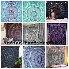 Indian Tapestry Wall Hanging Hippie Mandala Bohemian Bedspread Dorm Decor Throw