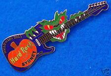 SYDNEY HALLOWEEN DRAGON MONSTER PUMPKIN FENDER GUITAR 2002 Hard Rock Cafe PIN LE