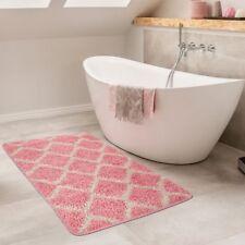 Tappetino da bagno Motivo a rombi Tappeto da bagno Design Pelo lungo Crema Nero