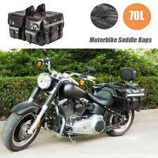 70L Large Waterproof Motorcycle Motorbike Saddle Bags Saddlebag for Haley Honda