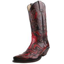 NUEVO SENDRA BOTAS ZAPATOS HOMBRE BOTAS DE COWBOY Botas Pitón Zapatos Cuero Rojo