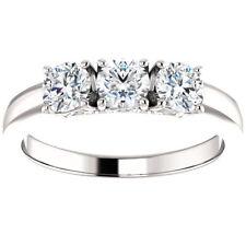 3/4ct 3-Stone Diamond Engagement Ring 14k White, Yellow, or Rose Gold