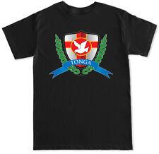 Tonga Football Soccer Men's Black T Shirt