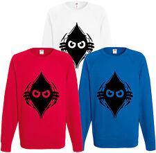 Peeking Monster Sweatshirt Funny Jumper Angry Rip Comedy Top Eyes Gift Present
