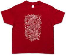 CHINESE TATTOO DRAGON Kids Boys T-Shirt Asia China Flash Oldschool Rockabilly