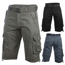 Trisens Cargo Shorts kurze Hose Herren Short Bermuda mit Gürtel Baumwolle