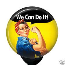 Rosie The Riveter Badge Reel Custom Nurse Retractable ID Card Name Badge Holder