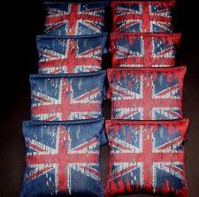 Union Jack UNITED KINGDOM GREAT BRITAIN FLAG 8 ACA Regulation Cornhole Bags B251