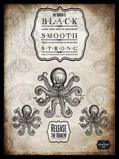 METAL VINTAGE SHABBY-CHIC TIN KRAKEN BLACK SPICED RUM PLAQUE/FRIDGE MAGNET