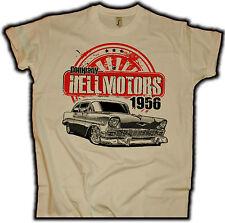 Chevy 56 Sand US Muscle Car Herren T-Shirt V8 Hot Rod Drag Race Oldschool